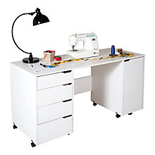 Sewing Craft Table on Wheels, 8828976