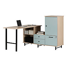 Reversible L-Desk w/Built In Power Bar, 8829039
