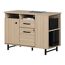 2-Drawer Credenza With Open and Closed Storage, 8829043