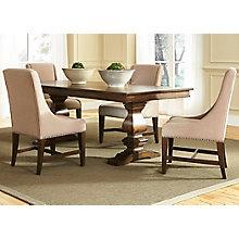 5 Pc Trestle Table Set , 8810774