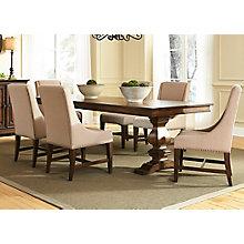 7 Pc Trestle Table Set , 8810775
