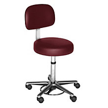 Helix Hands-Free Stool with Chrome Base in Faux Leather or Vinyl, HIG-10924