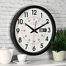 "Contemporary Day and Date Wall Clock - 14"", 8813489"