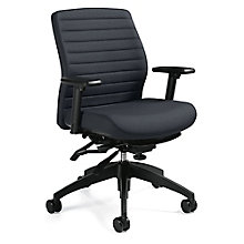 Aspen Fabric Medium Back Multi-Tilter Task Chair, 8814297