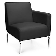 Left Arm Guest Chair with Chrome Legs in Polyurethane, 8814101