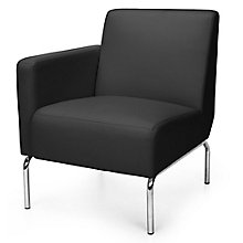 Right Arm Guest Chair with Chrome Legs in Polyurethane, 8814103