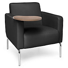 Triumph Guest Chair with Chrome Legs and Tablet in Polyurethane, 8814109