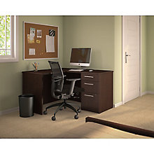 L-Desk with 3 Drawer File 48W , 8825700