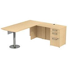 Peninsula Desk & Pedestal 72W , 8825702