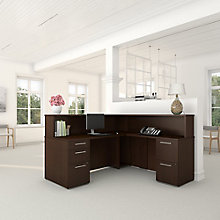 Reception L Desk with Files, 8825707