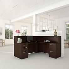 Reception L Desk with Files, 8825707