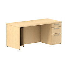 Single Pedestal Desk 66Wx30D , 8825686