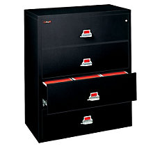 """Fireproof Four Drawer Lateral File - 44""""W, FRK-4-4422-C"""