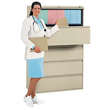 "Five Drawer Lateral File 36""W, GLO-9336P-5F1H"