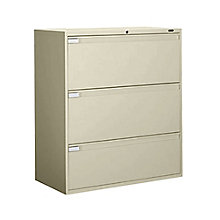 "3 Drawer Lateral File 42""W, GLO-9342P-3F1H"