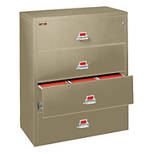 """Fireproof Four Drawer Lateral File - 32""""W, FRK-4-3122-C"""