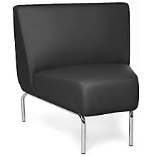 Triumph 45 Degree Armless Guest Chair with Chrome Legs in Polyurethane, 8814107