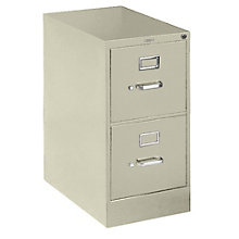 "25""D 2 Drawer Letter File with Lock, HON-512P"