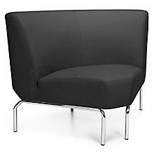 Triumph 90 Degree Armless Guest Chair with Chrome Legs in Polyurethane, 8814108