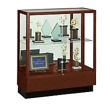 Counter Height Classic Display Case With Mirror Backing WAD 8949M MB