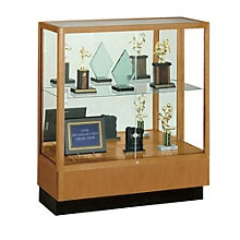 Counter Height Classic Display Case with Mirror Backing, WAD-8949M-MB