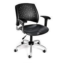 Swivel Plastic Chair w/Arms, 8812794