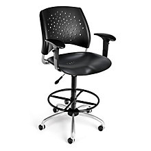 Swivel Plastic Stool w/Arms, 8812795