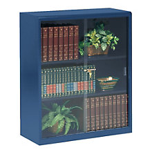 steel bookcase with glass doors tes 342gl - Steel Bookshelves