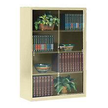 Steel Bookcase with Glass Doors, 8804071