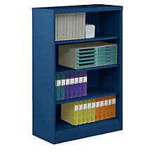 "Four Shelf Steel Bookcase - 18""D, TES-BC18-52"