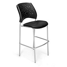 Cafe Height Vinyl Silver Chair, 8812804