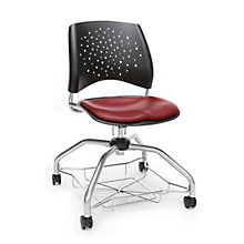 Foresee Plastic Back Vinyl Seat Student Chair with Under-Seat Basket, 8825764