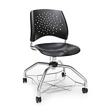 Foresee Plastic Student Chair with Under-Seat Basket, 8825679