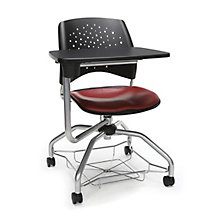 Foresee Plastic Back Vinyl Seat Tablet Arm Student Chair, 8825763