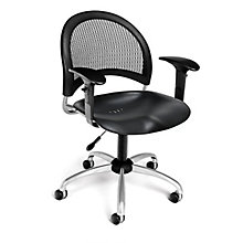Swivel Plastic Chair w/Arms, 8812914
