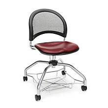 Foresee Mesh Back Vinyl Seat Student Chair with Under-Seat Basket, 8825770