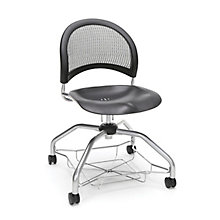 Foresee Mesh Back Plastic Seat Student Chair with Under-Seat Basket, 8825766