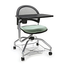 Foresee Mesh Back Tablet Arm Student Chair with Under-Seat Basket, 8825767