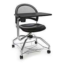 Foresee Mesh Back Vinyl Seat Tablet Arm Student Chair, 8825769