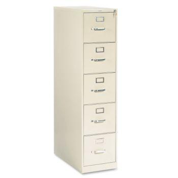 26-1/2D 5 Drawer Letter Locking File Cabinet HON ...