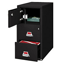 "Fireproof Two Drawer Vertical File with Safe - 31""D, FIR-32131"