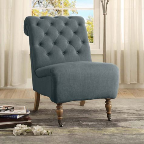 Use as an accent chair (blue)