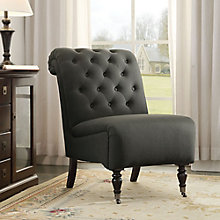 Cora Armless Tufted Chair with Front Casters, 8805182