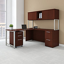 Desk, Hutch and Pedestal 72W , 8825735