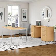 Table Desk and Credenza 72W , 8825740