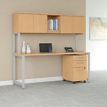 Table Desk Hutch File 72W , 8825748