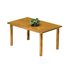 "Oak Rectangular Table - 72"" x 36"", LES-V1772R8"
