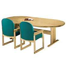 Solid Oak 8' Oval Conference Table, 8802872