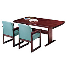 Solid Oak 8' Rounded End Conference Table, LES-V1396T8