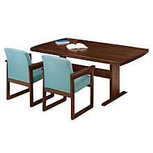 Solid Oak 10' Rounded End Conference Table, 8802895